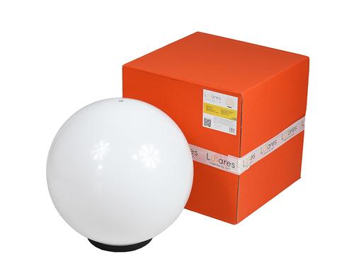 Dekorativní bílý míček - Luna Ball 40 cm s montážní sadou, 3m kabel, upevňovací sloupek