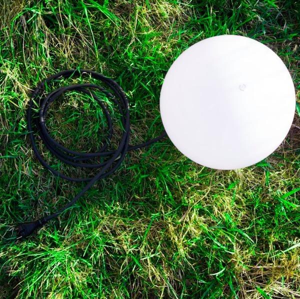 Dekorativní kulová zahrada 20cm Luna Ball s montážní sadou