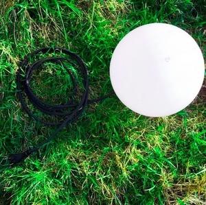 Dekorativní zahradní koule 25cm Luna Ball s montážní sadou small 2