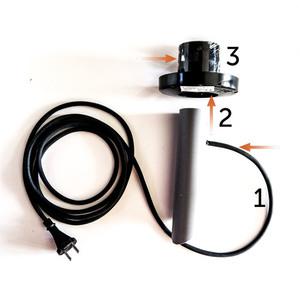 Dekorativní bílý míček - Luna Ball 50 cm s montážní sadou, 3m kabel, upevňovací sloupek small 2