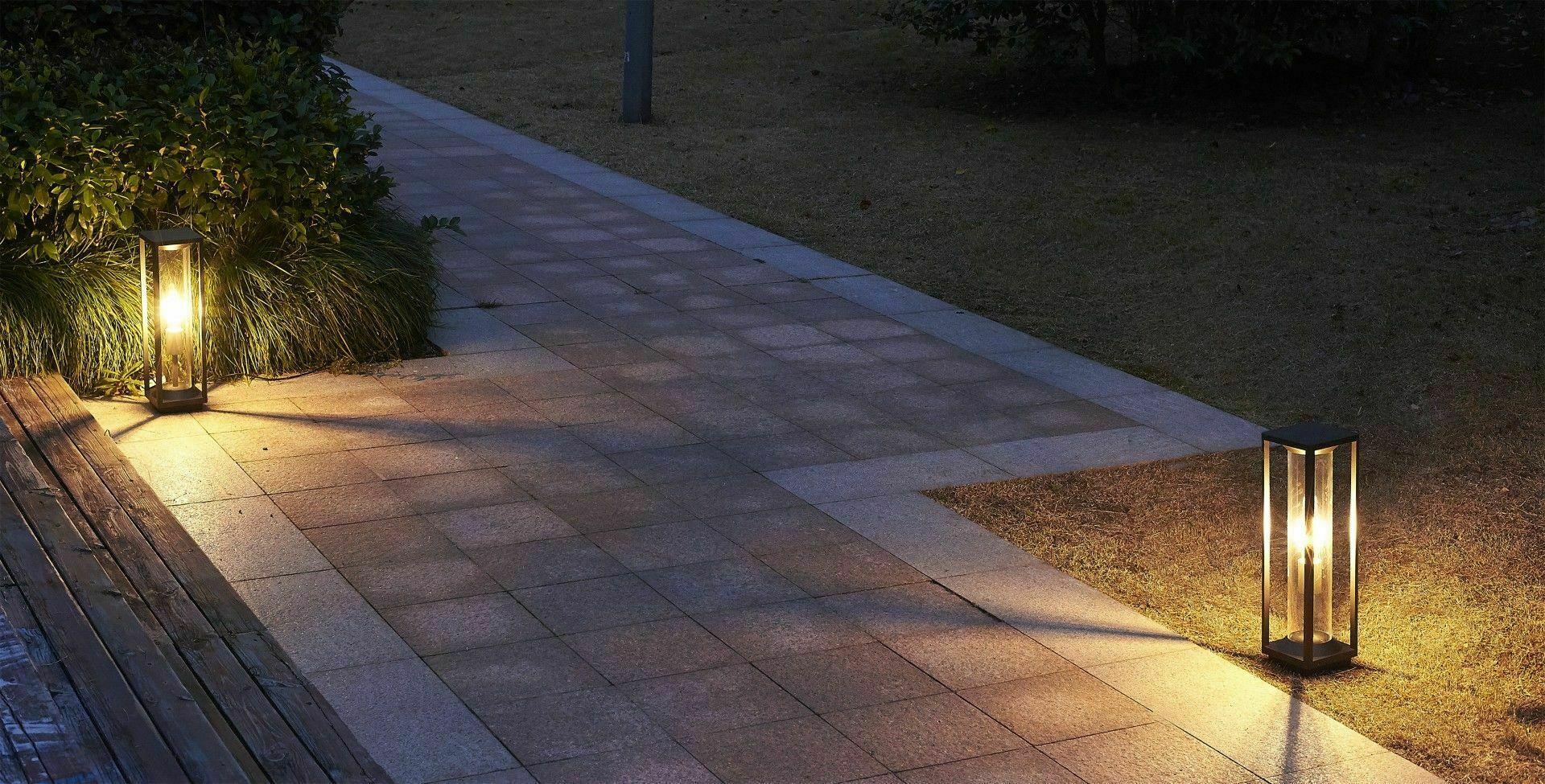 Zahradní zahradní lampa Porto 50cm + LED žárovka