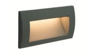MUR LED zapuštěné svítidlo tmavě šedé 14cm small 1