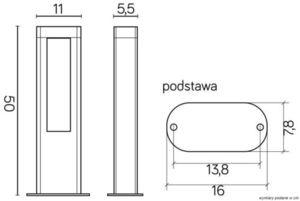 Venkovní stojací lampa EVO LED 50cm, tmavě šedá small 3