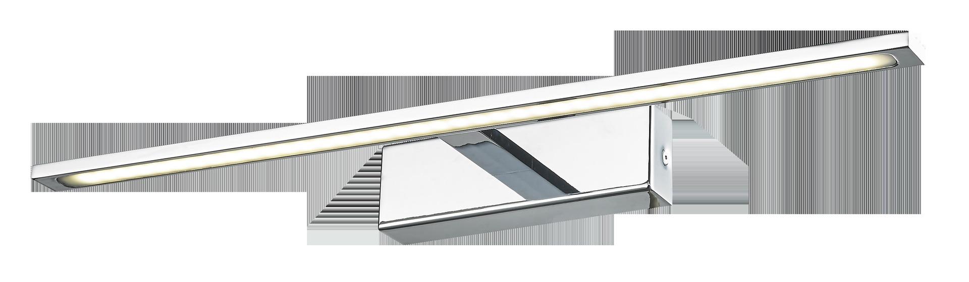 Velká chromová nástěnná lampa Isla s krytím IP44