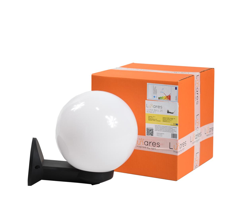 Moderní venkovní nástěnná lampa Luna Ball 25 cm E27 LED bílá