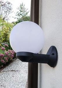 Zahradní nástěnná lampa Luna Ball 20 cm bílá E27 LED small 1