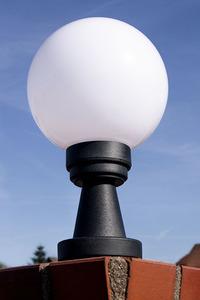 Zahradní lampa Luna Ball Plinto 25 cm E27 LED bílý podstavec small 1