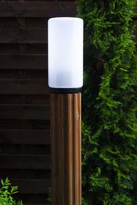 Osvětlovací sloupek Luna Torch 127 cm E27 bílá bílá stínítko small 3