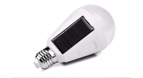 7W E27 solární žárovka se senzorem soumraku