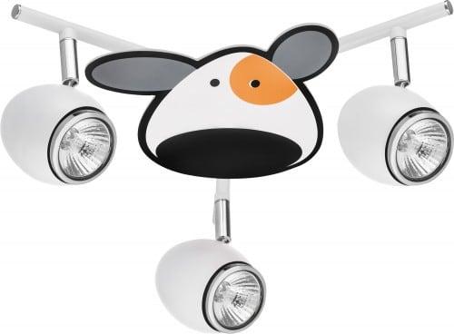 Dětská lampa Piesek - Doggy biały / chrom LED 3x4,5W GU10