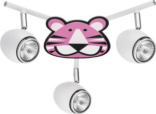 Lampa dla dziecka Tygrys - Lenny biały/chrom LED 3x4,5W GU10