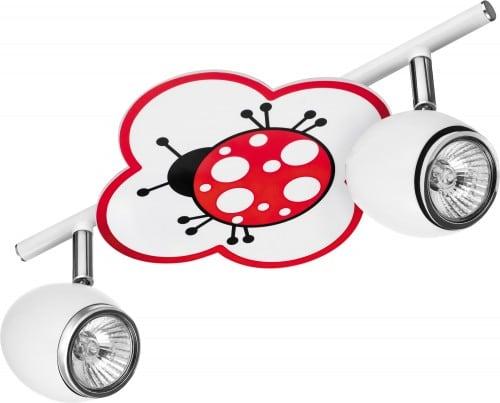 Lampa dla dziecka Biedronka - Fly biały/ chrom LED 2x4,5W GU10