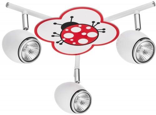 Lampa pro dítě Biedronka - Fly bílá / chrom LED 3x4,5W GU10