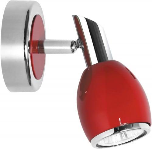 Nástěnná lampa Červená barva Chrome GU10 50W