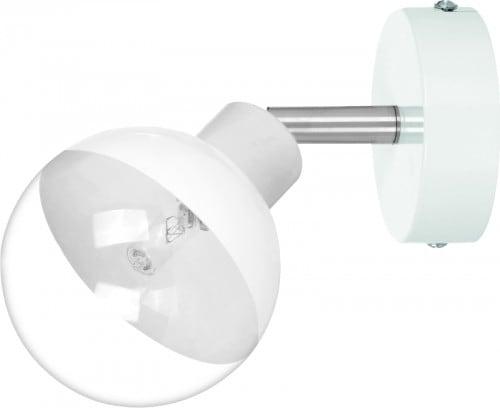 Bílá nástěnná lampa skleněná koule Ginos G9 28W