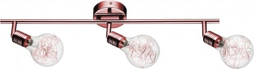 3-punktowa Miedziana Listwa Plafon Spot Bulbs G9 28W