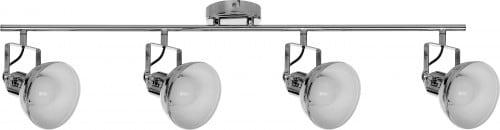 Rerflektorki-Listwa sufitowa 4-punktowa Edit chrom E27 60W