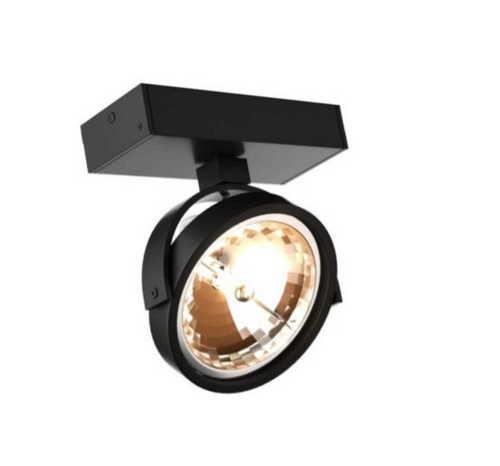 Romeone 1 černá nástěnná lampa