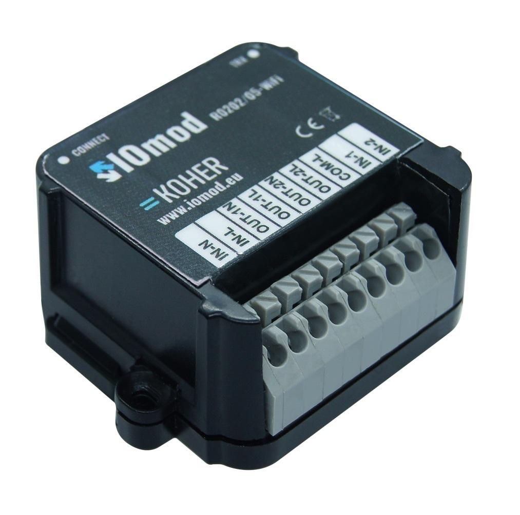 IOmod WIFI dvou reléový modul umožňující dálkové ovládání elektrických obvodů
