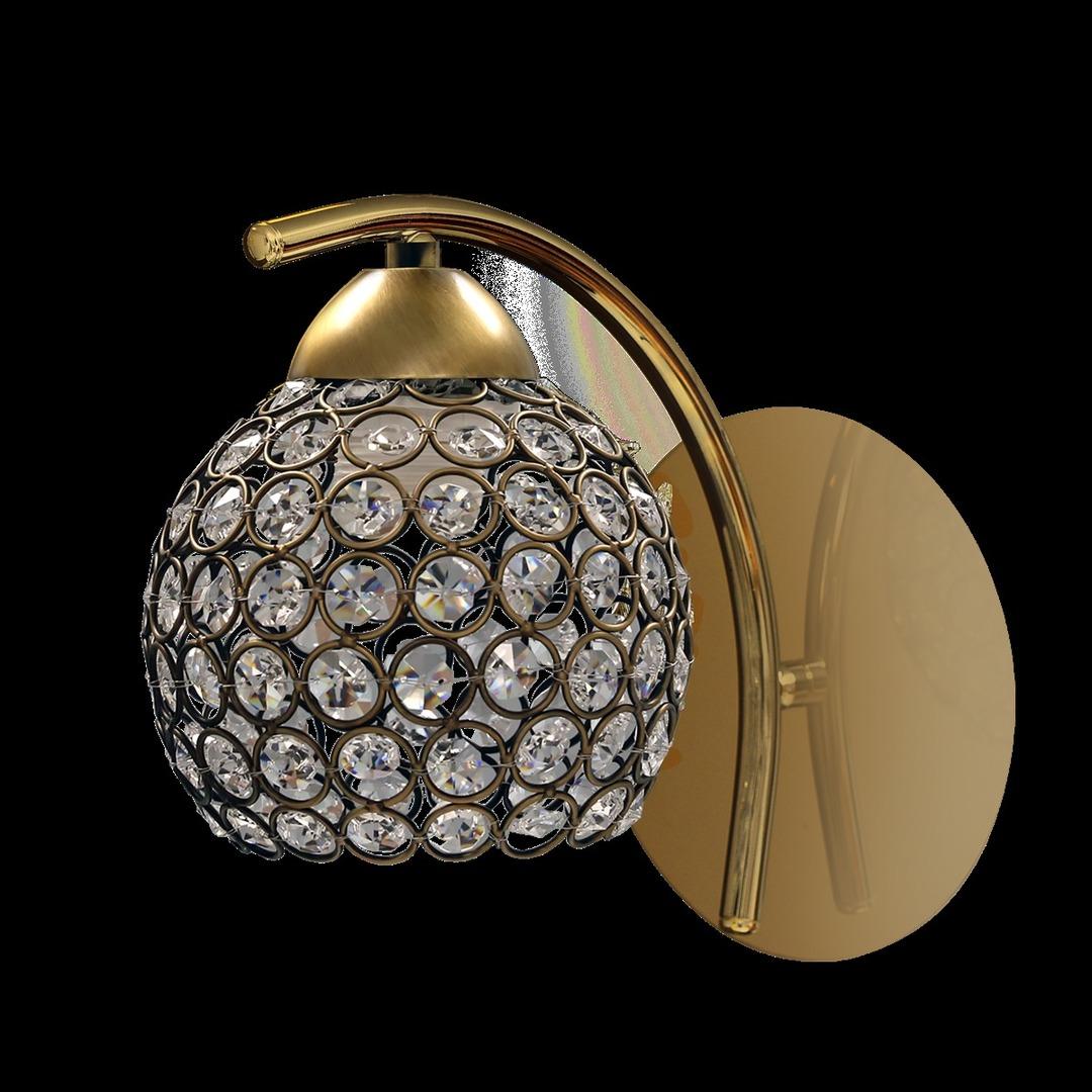 Nástěnná lampa Allan patina