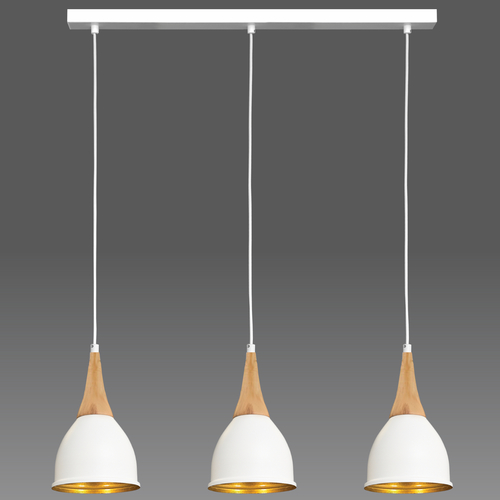 Závěsná lampa bílá Aria 3