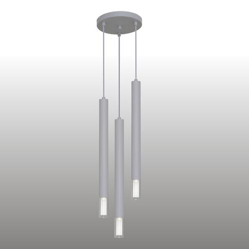 Šedá závěsná lampa Kuga 3 XL