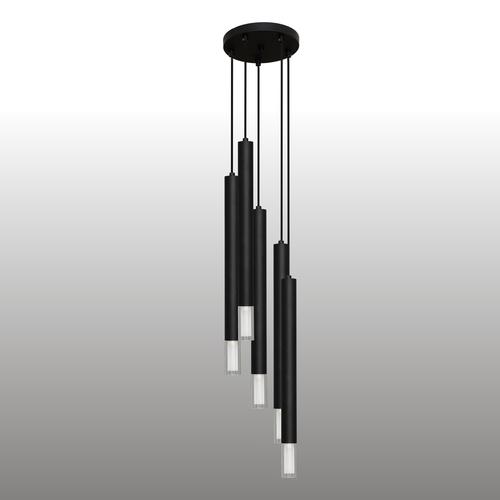 Černá závěsná lampa Kuga 5 XL