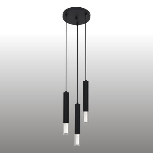 Černá závěsná lampa Kuga 3 M