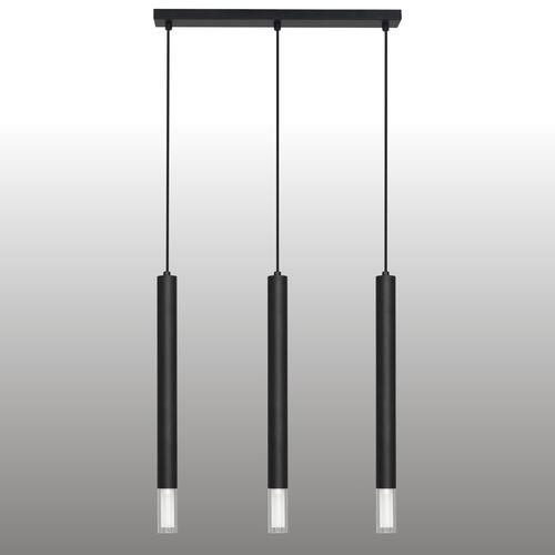 Černá závěsná lampa Kuga 3 pruhy XL