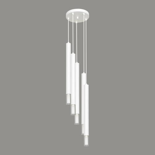 Bílá závěsná lampa Kuga 5 XL