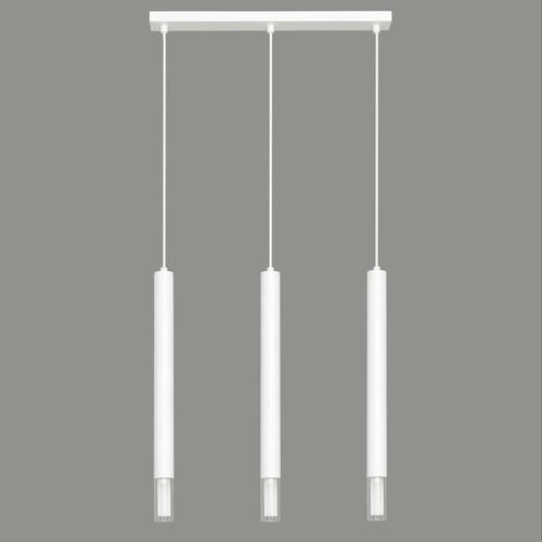 Bílá závěsná lampa Kuga 3 pruhy XL