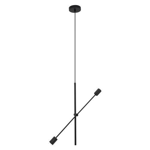 Czarna lampa wisząca Rotor 2