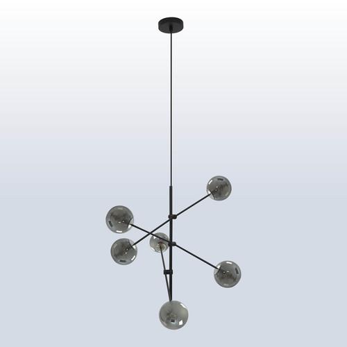 Lampa wisząca Rotor 6 klosz ciemny