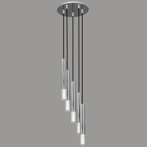 Lampa wisząca Kuga 5 M chrom