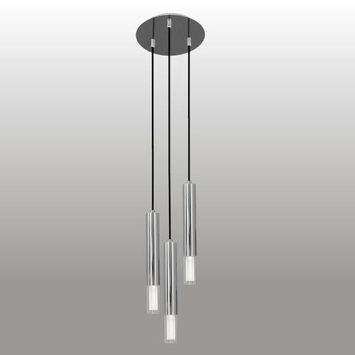 Lampa wisząca Kuga 3 M chrom