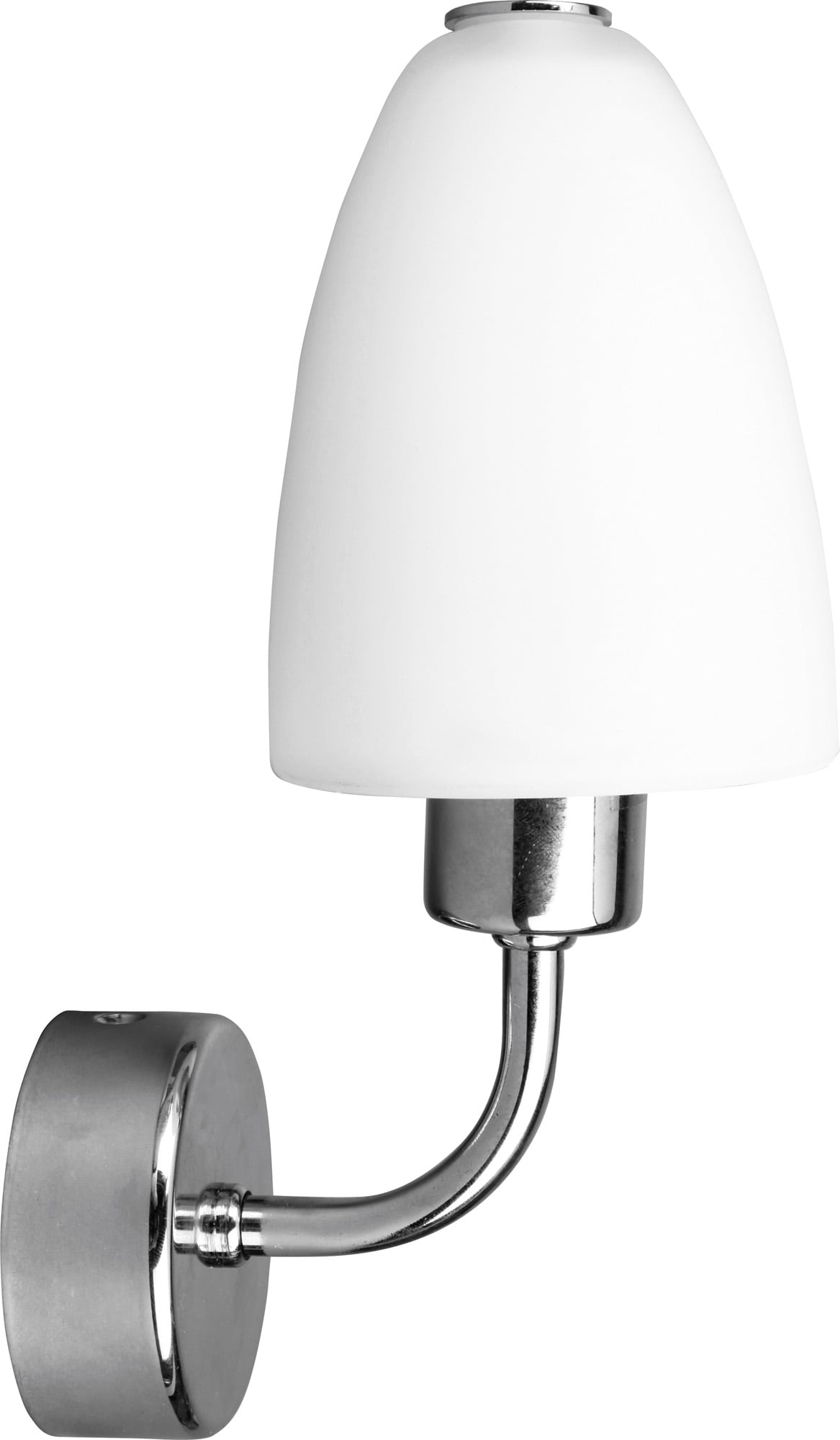 Stylová nástěnná lampa Aquatic chrom / bílá E14 40W