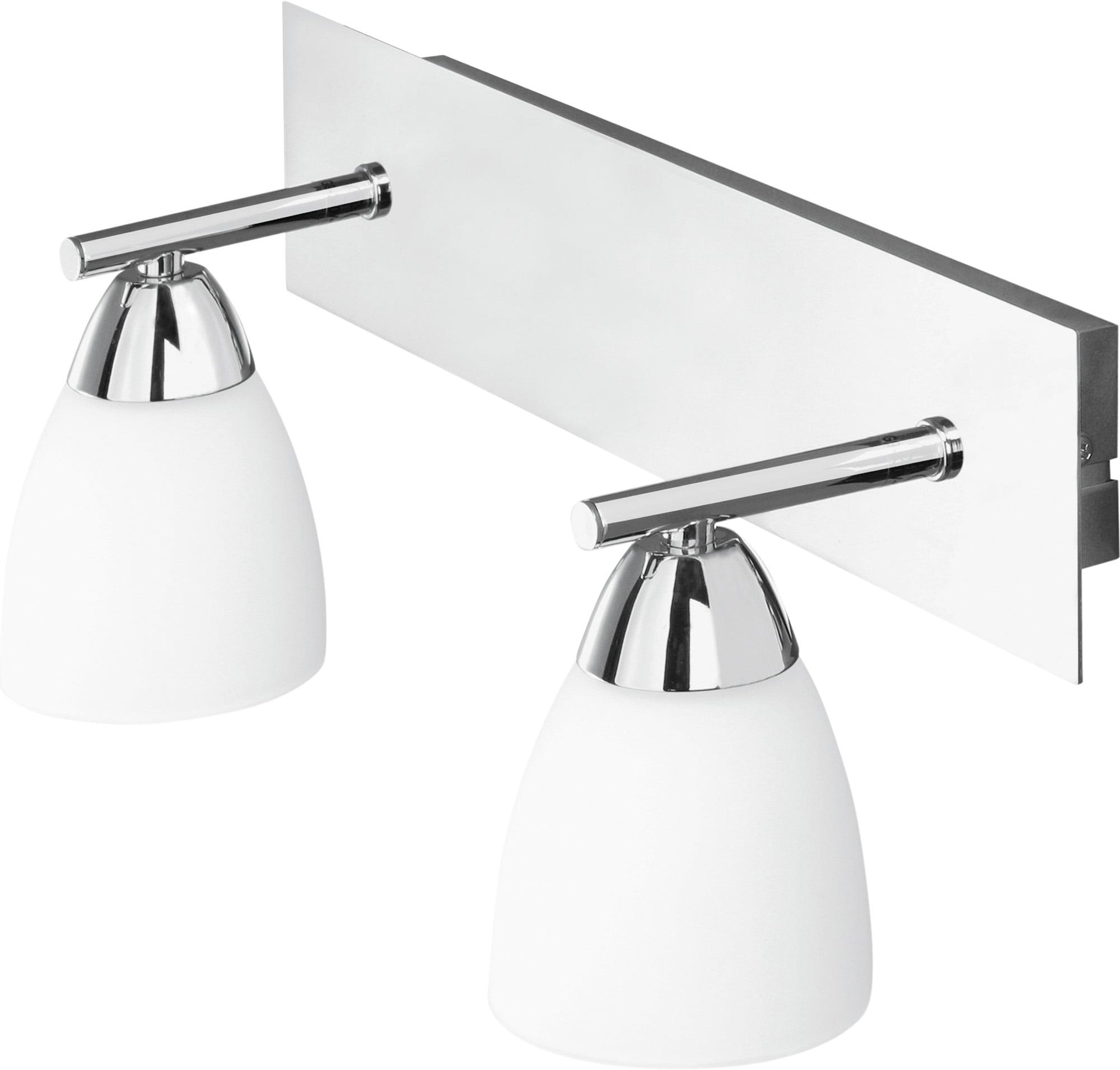Moderní dvoubodová nástěnná lampa Aquatic chrom / bílá G9 40W