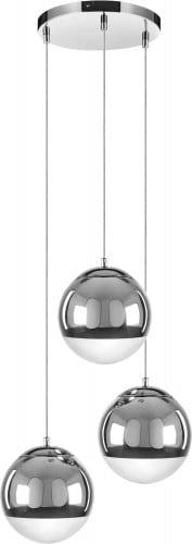 Trojitá závěsná lampa Gino chrom E27 60W