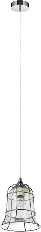 Stropní svítidlo Chicka chrom / bílá E27 60W
