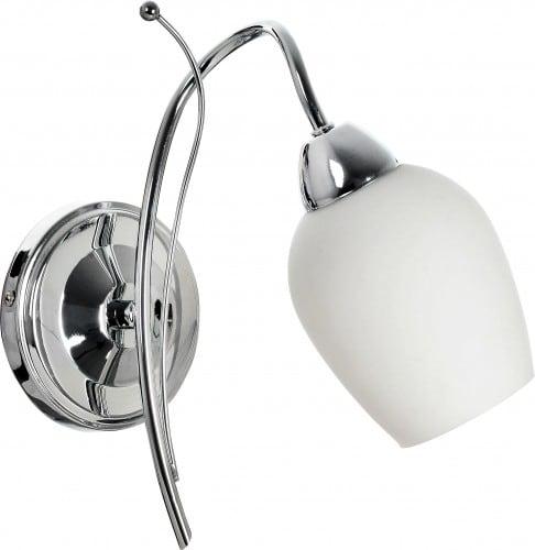 Nástěnné svítidlo Chrome s bílým odstínem Junko E14 60W