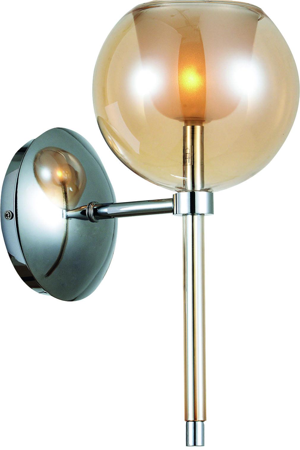 Moderní nástěnné svítidlo Bellissima chrom / šampaňské G4 20W