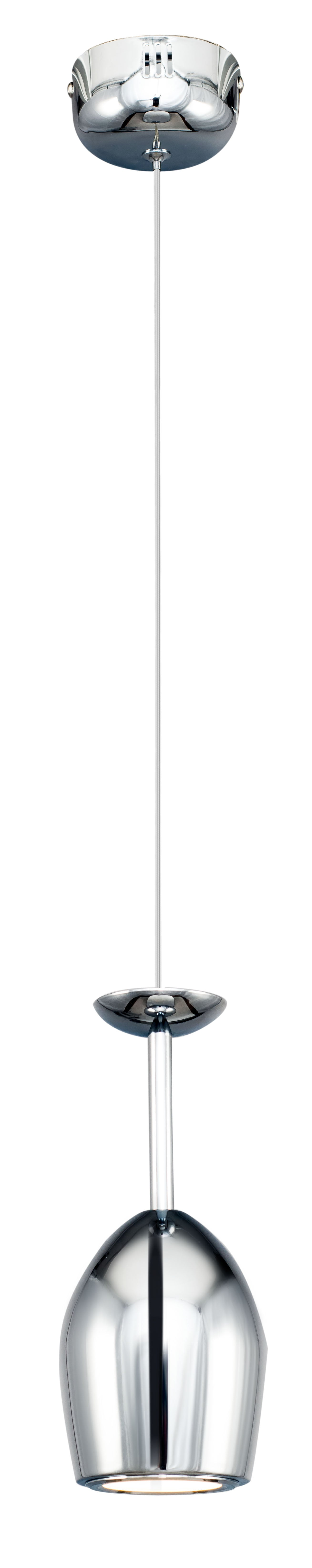 Moderní LED závěsná lampa Merlot chrom LED 5W