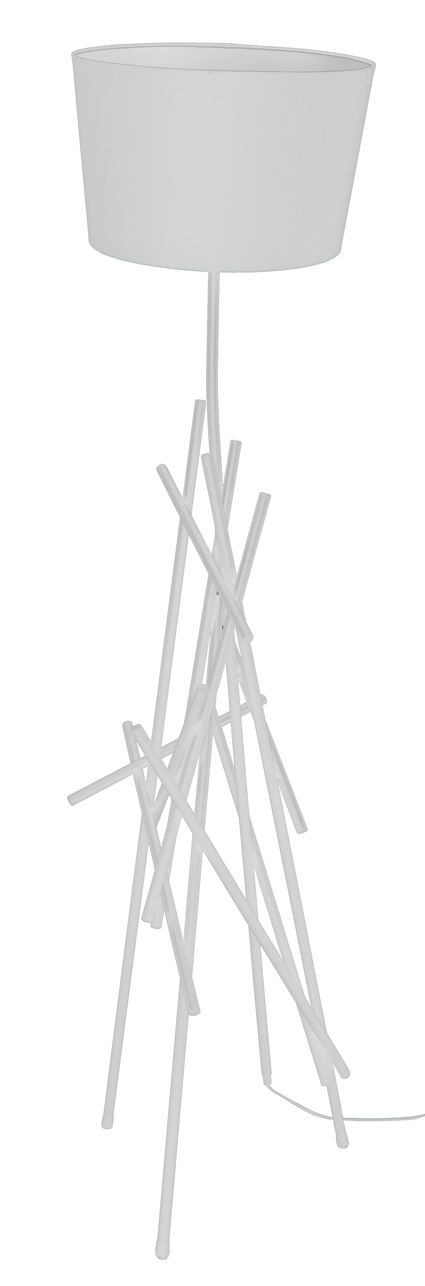 Bílá Stojací lampa Glenn bílá E27 60W