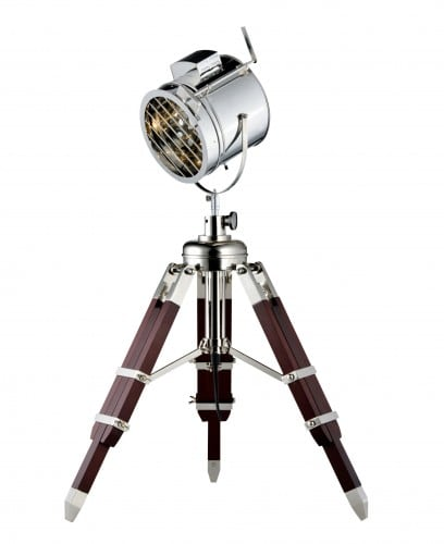 Loft Podlahová lampa Film hliník / wenge E27 60W
