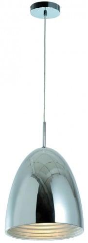 Industrialna Chromowana Lampa wisząca Mads E27 60W