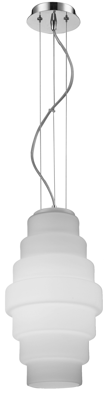 Moderní závěsná lampa Britt chrom / bílá E27 60W