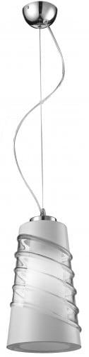 Lampa Cristal chrom / bílá / transparentní E27 60W