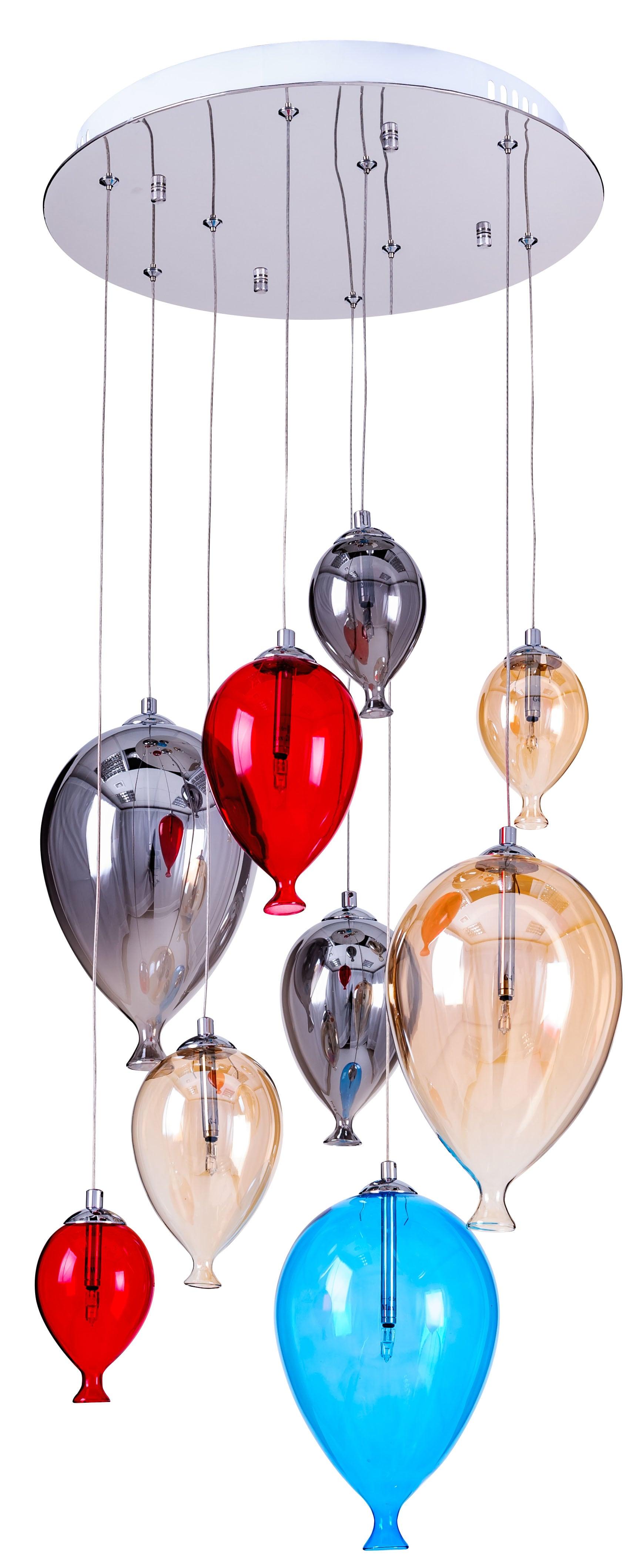 lampa dětské závěsné balóny - Balón vícebarevný 160cm / 40cm 9xG4 20W