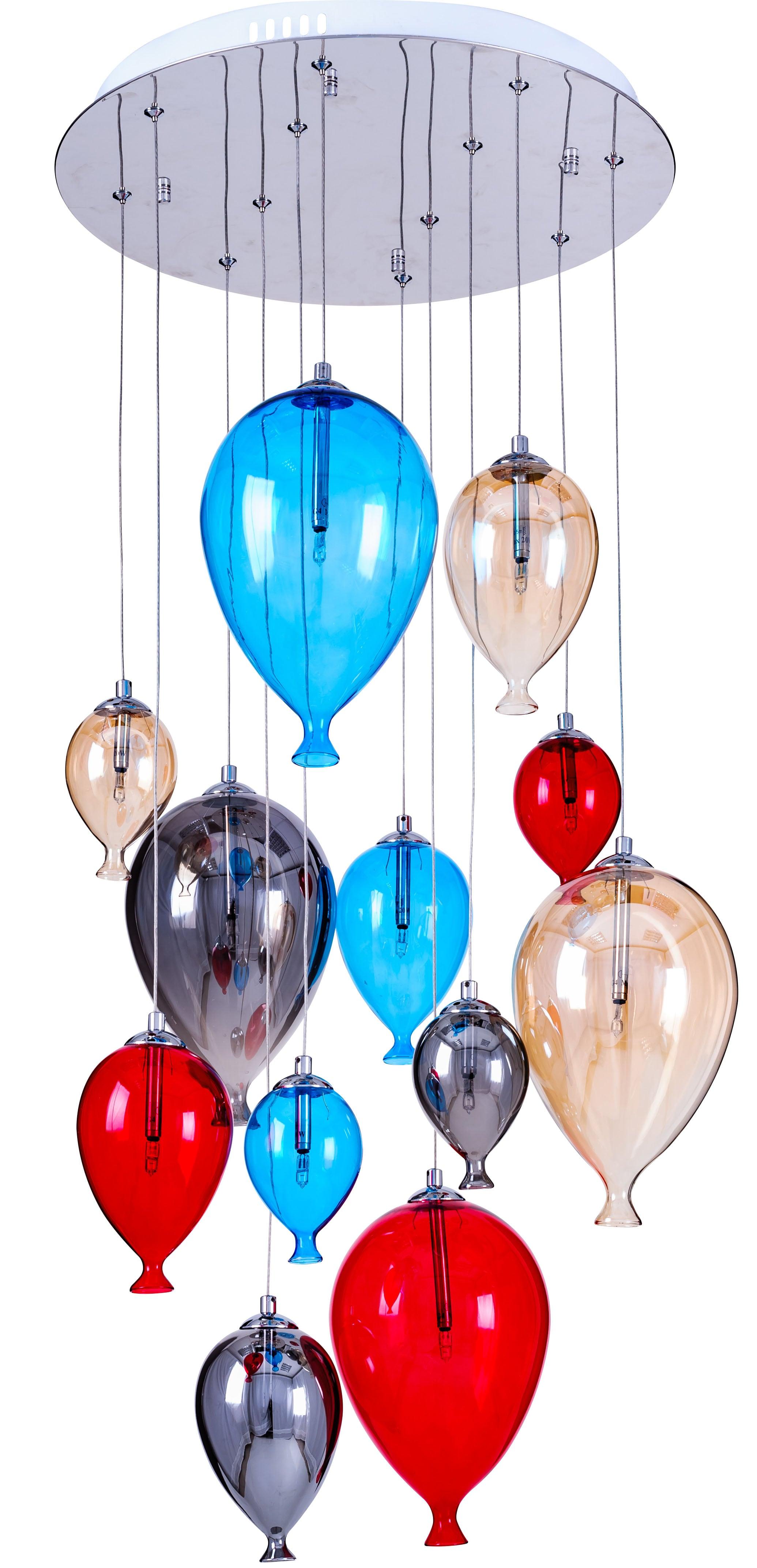 Závěsná svítilna pro balonky - Balón vícebarevný 160cm / 45cm 12xG4 20W