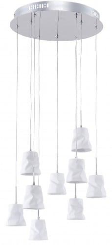 Závěsná lampa s devíti body Joelle chrom / bílá G4 20W